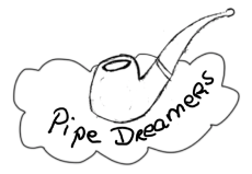 image of pipe on cloud with words pipe dreamers underneath
